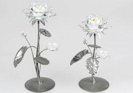 Formano Leuchter Teelichthalter Kerzenständer einflammig  Seerose Glas