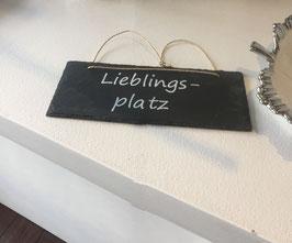 Schiefer-Tafel mit Sruch