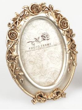 Formano Bilderrahmen Rosen oval gold verspielt Chalet 2 Größen