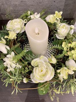 Formano Kranz Tisch-Deko Türkranz Rosen grün weiß 2 Größen