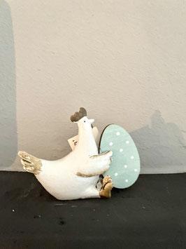 Huhn mit Ei ca. 9x8 cm