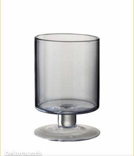 J-LINE Vase Windlicht Pflanztopf  in 2 Größen Rauchglas ca. 15x33 und15x23