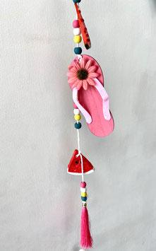 Flip Flop Hawaiianer Sommerdeko Anhänger farbenfroh in 2 Farben