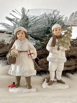 Winterkinder a little more Kunststein Winter Weihnachten Deko Set