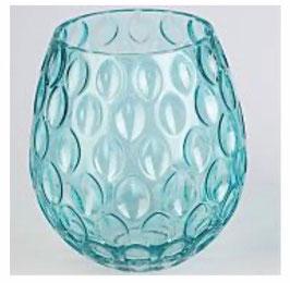Formano Glasvase & Windlicht in 2 Größen und 2 Farben rosé/blau