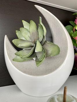 Formano Blumenvase weiss grau
