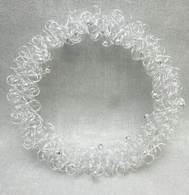 Formano Kranz oder Herz silber mit Perlen traumhafte edle Tischdeko Geschenk