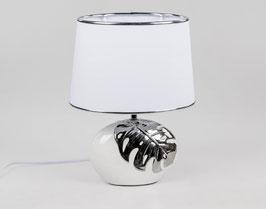 Formano Tischlampe weiss mit silbernem Blatt