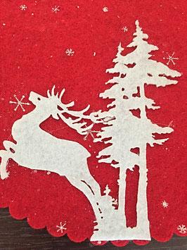 Platzset rot Weihnachtlich