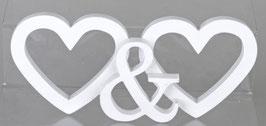 Formano Deko Herzen Schriftzug weiss silber Hochzeitsgeschenk