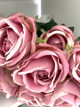 Rosenstrauß Deko Frühling Blüten in 2 Farben