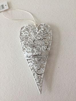 Herz zum hängen Vintage aus Metall mit Ornamenten