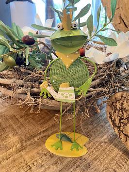 a little more Frosch-König- Gärtner/in mit Gießkanne oder  Eimer Deko-Idee Garten Balkon