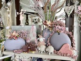 J-LINE Vase Oval Flach hauchzart lila