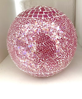 Formano Lampe Kugel  rosa Mosaik mit LED Beleuchtungen 2 Größen