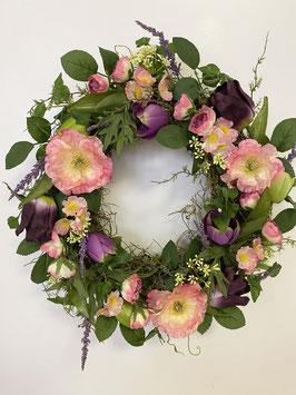 Formano Kranz Mohn rosa pink Blüten Deko Tisch Türkranz 2 Größen