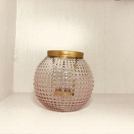 Windlicht- Kerzenhalter Glas rose´ca. 14 cm x 10 cm