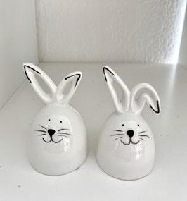 Pfeffer und Salzstreuer Ostern Hase weis Keramik