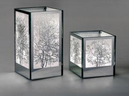 Formano Deko- Lampe Glas/silber in zwei Größen