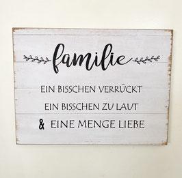 Bild Holzoptik alte Bretter mit Spruch Familie Geschenk