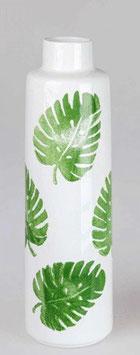 Formano Vase weiss mit Blättern