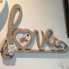 Bilderrahmen Love ca. 33x42cm, Herz für Fotos ca. 10,5x10