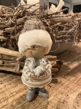 Formano Winter Kinder mit Wollmütze in 2 Größen Deko Winter Weihnachten