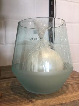 #Windlicht #Glas oder #Vase  zartes blau