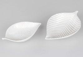 Formano Schale Blatt Porzellan weiß in zwei Größen