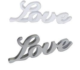 Formano Schriftzug Love weiss silber Hochzeitsgeschenk