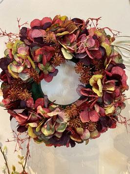 Formano Blütenkranz farbenfroh Türkranz Tischdeko Dekokranz Hortensien