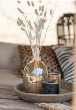 J-LINE Glasvase Vase Amber Glas gold