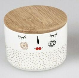 Formano Dose mit Holzdeckel aus Porzellan Trend Style in 2 Größen