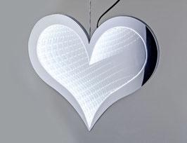 Formano Hänger Herz weiß LED Fenster-Deko beleuchtet mit Timer 20cm stehend 30cm