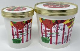 Sorbet fraise menthe