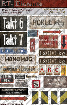 Printed Accessories: German Factory Signs I