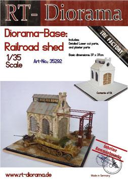 "Diorama-Base:  ""Railroad Shed"""