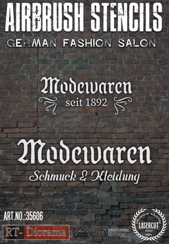 Airbrush Stencil: German Fashion Salon