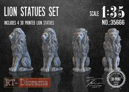 Lion Statues Set (4pcs.)