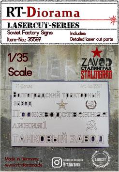 Soviet Factory Signs