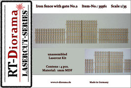 Iron fence with gate No.2  1/35