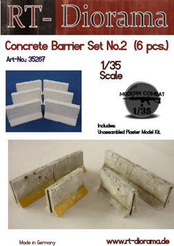 Concrete barrier Set No.2 (6 pcs)