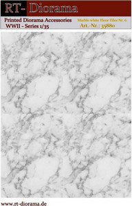 Printed Accessories: Marble white Floor Nr.6