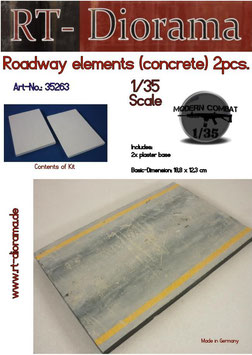 Roadway elements (concrete) 2 pcs.