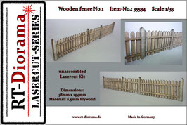 Wooden fence No.1  1/35