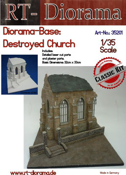 Diorama-Base: Destroyed Church