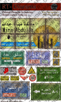 Printed Accessories: Iraqi road signs Set No.2