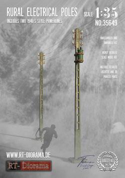3D Resin Print: Rural Electrical Poles