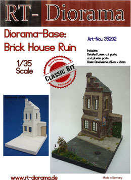 Diorama-Base:Brick House Ruin