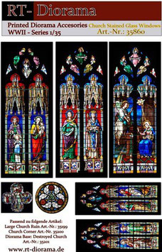 Printed Accessories:             Church Stained Glass Windows